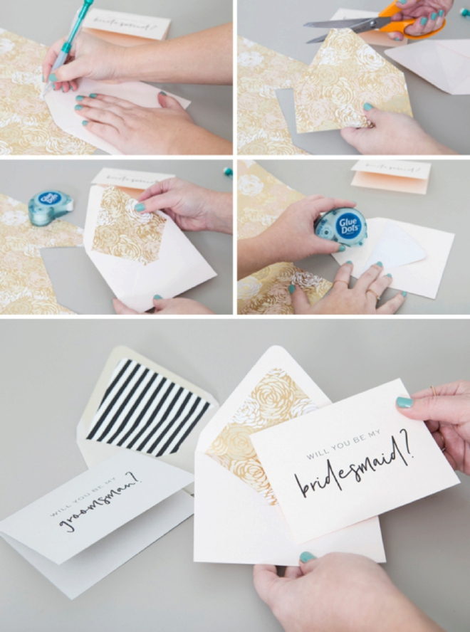 how to make your own card envelope