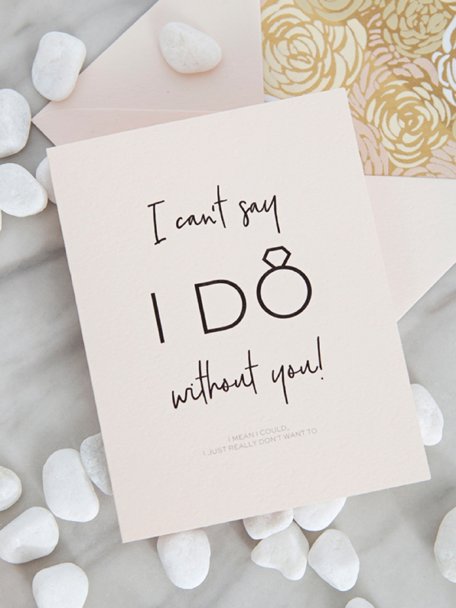 30+ free printable Will You Be My Bridal Party cards!
