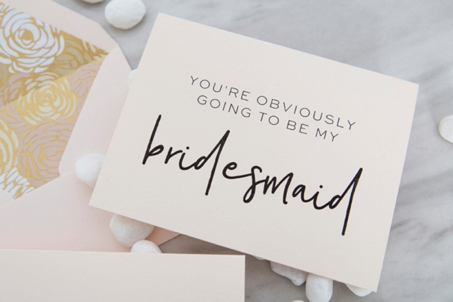 Geeky image with free printable bridesmaid card