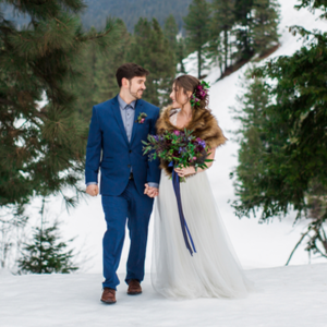 We're swooning over this super gorgeous styled winter wedding!