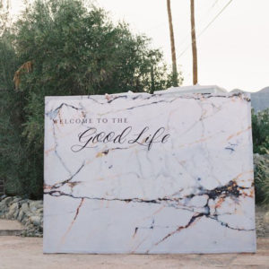 Love this statement-making marble backdrop.