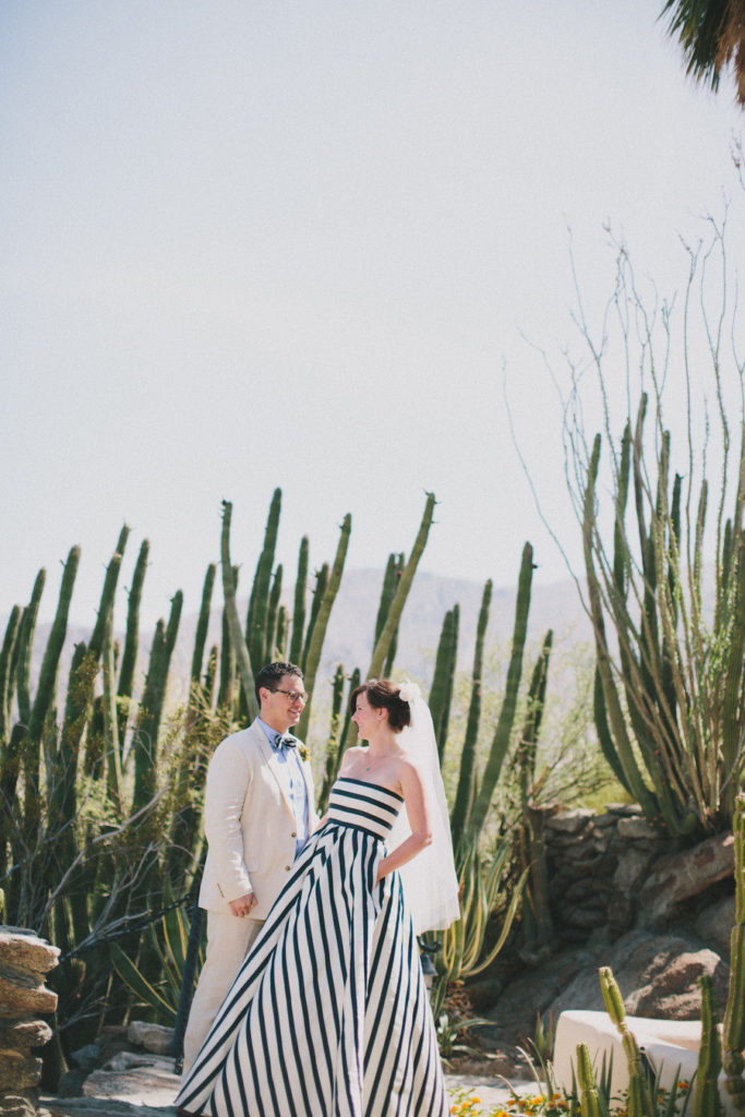 The bride wore STRIPES! OMG this black and white wedding dress is gorgeous.