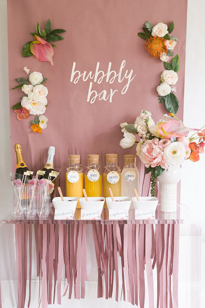 All guests will love a mimosa bar.