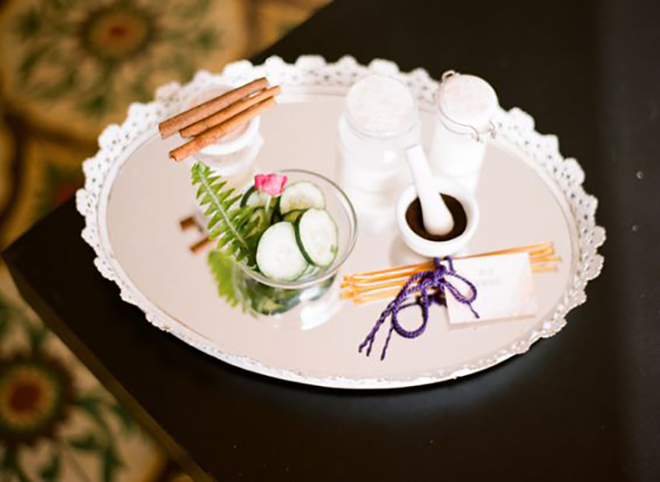 Why not have the ladies pamper themselves at your bridal shower?