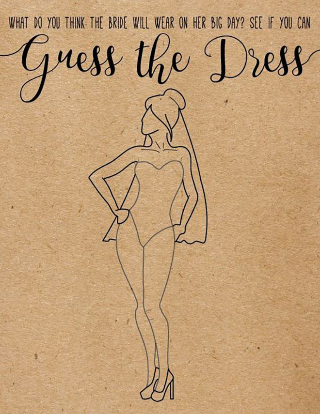 This draw the dress game would be so fun to see what people think you might wear!