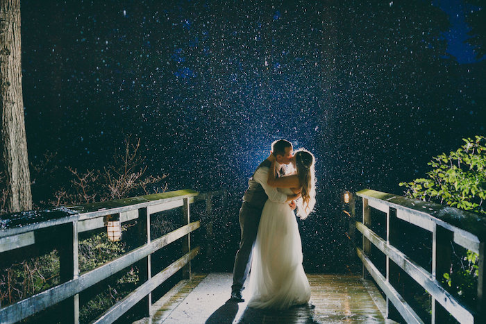 OMG This may be the most amazing wedding photo of all time! I love the starts in the background and the love between the bride and the groom.
