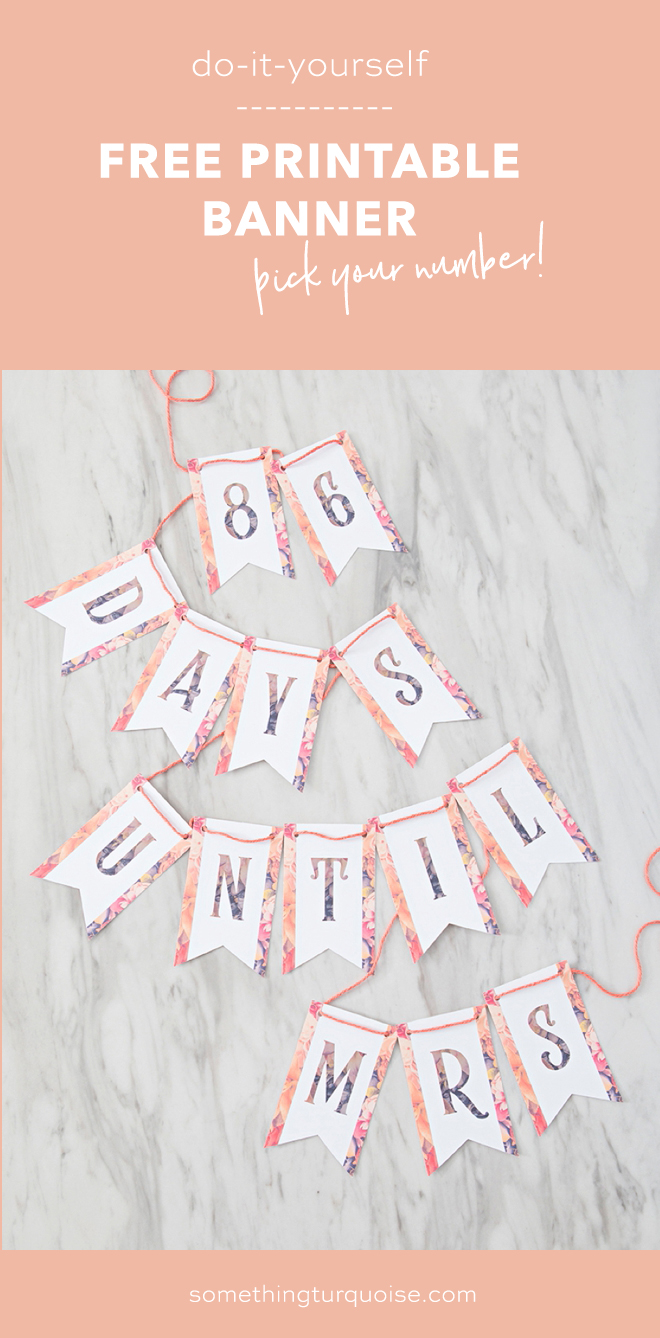 Free Printable Days Until Mrs Banner!