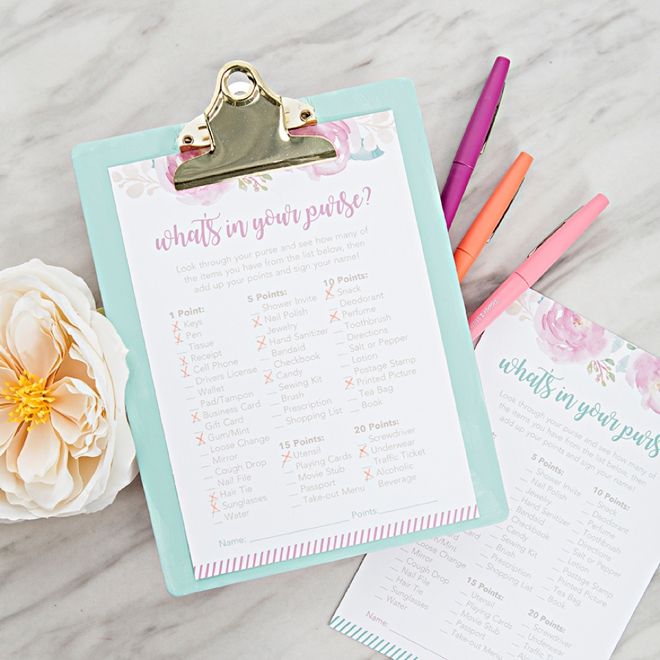 image relating to Bridal Shower Purse Game Free Printable identify OMG, Such Cost-free Printable \