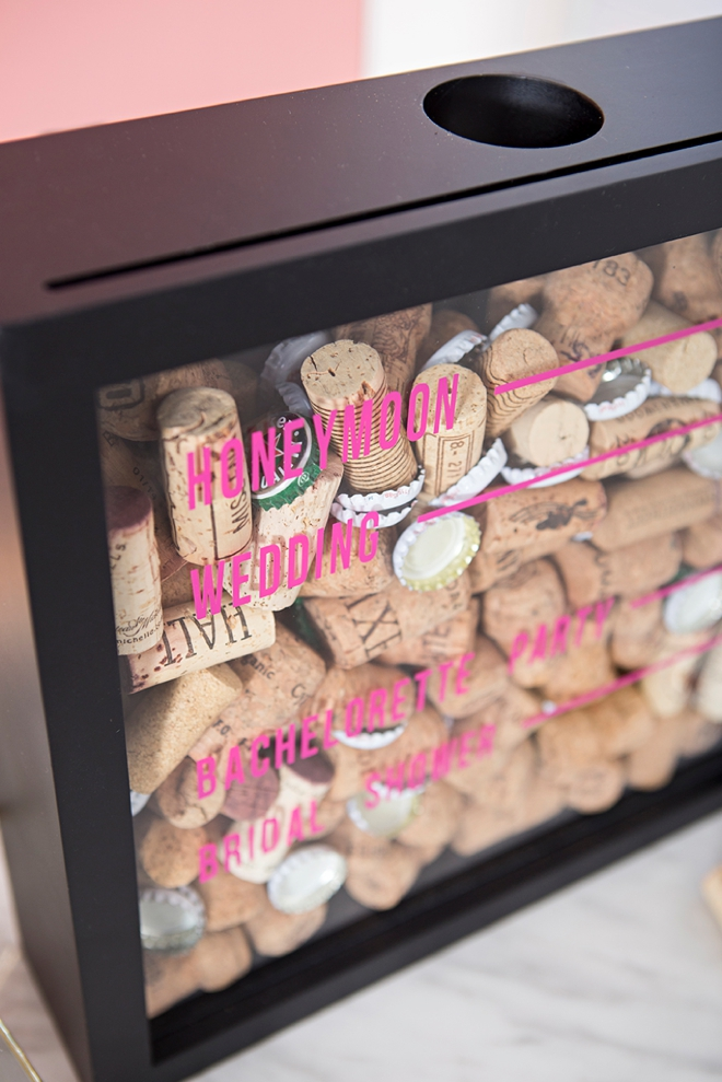 Use your Cricut Maker To Personalize A Cork Keepsake Frame