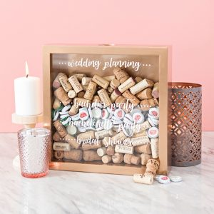 Create your own cork keepsake frame to save all the corks from your wedding events!