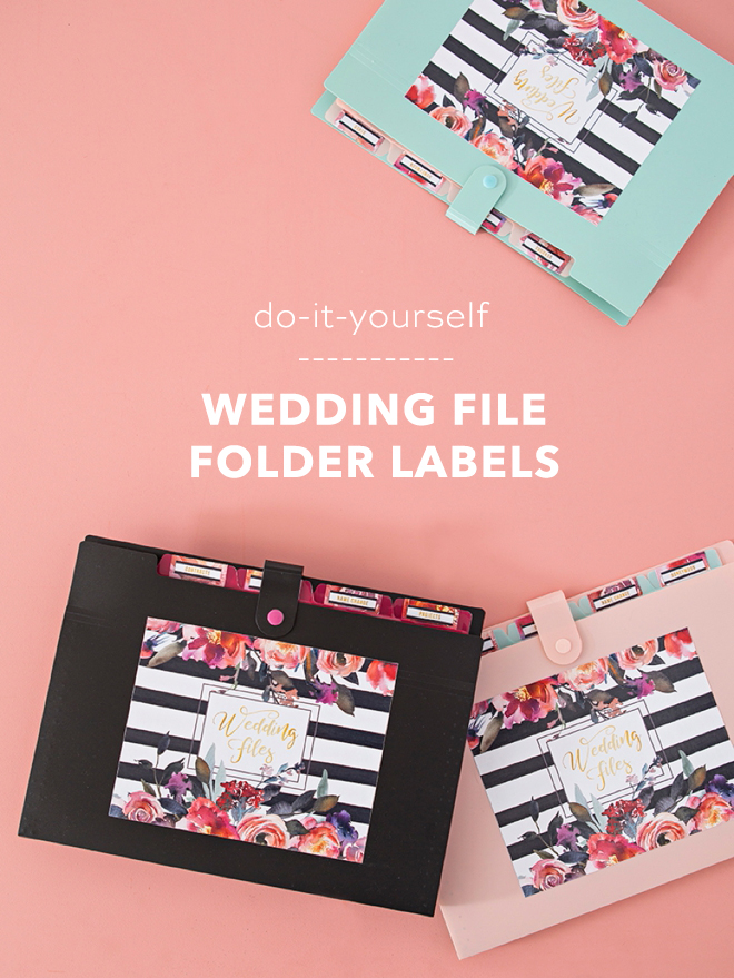How cute are these printable wedding file folder labels!?