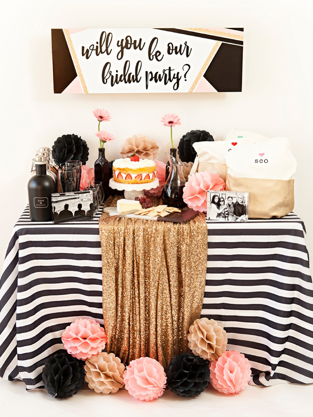 Another reason to celebrate! Throw a party to ask your bridal party.