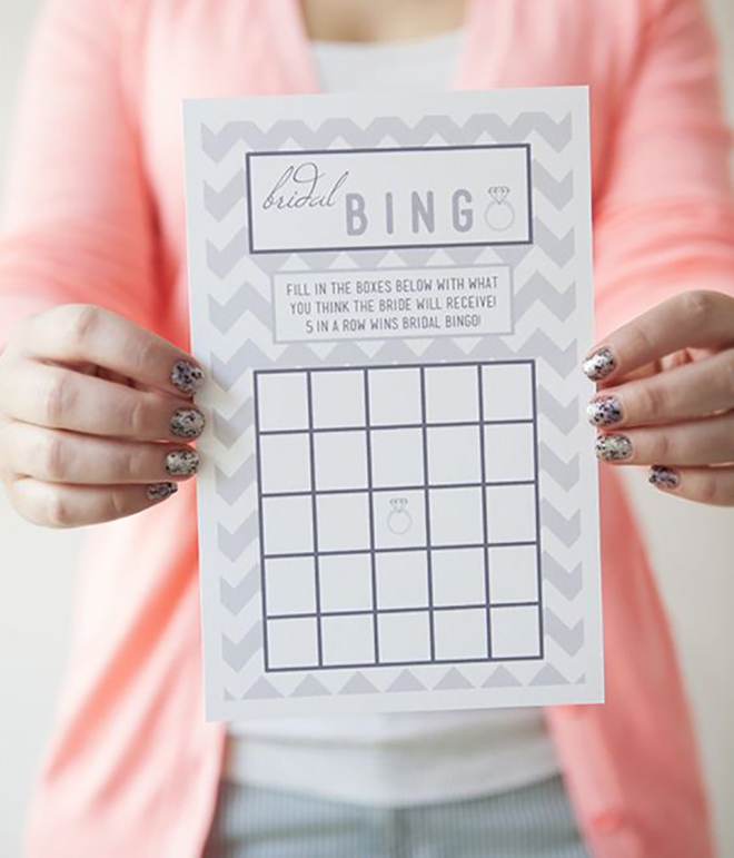Make this classic bridal shower game in our archives.