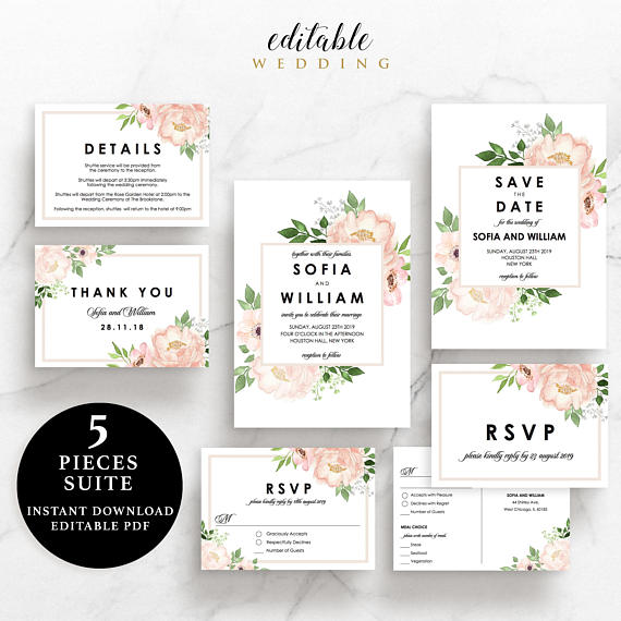 Editable Wedding