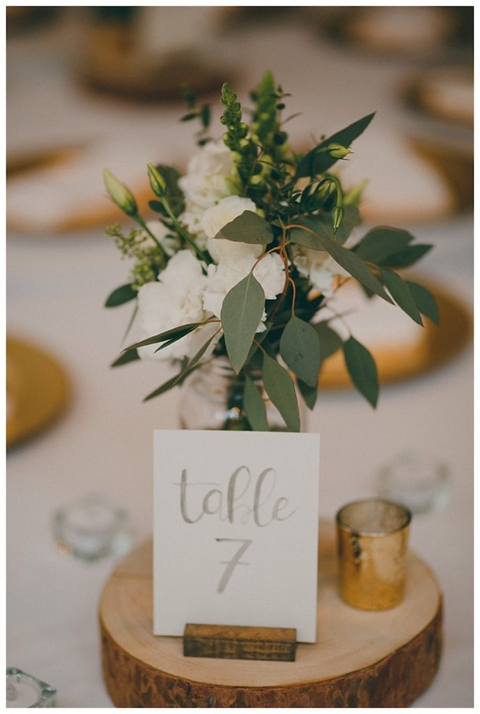 beautiful eucalyptus table numbers.