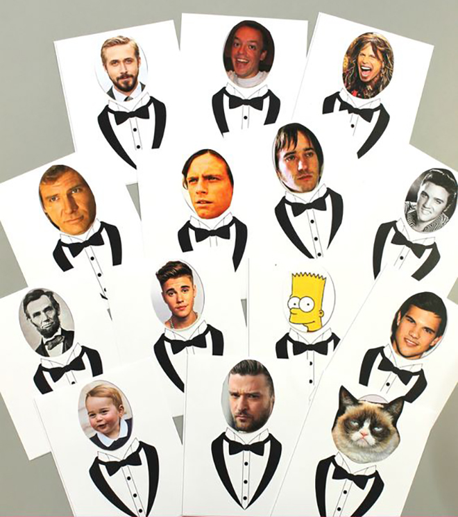 Who has the groom a classic made funny by incorporating your favorite celebs.