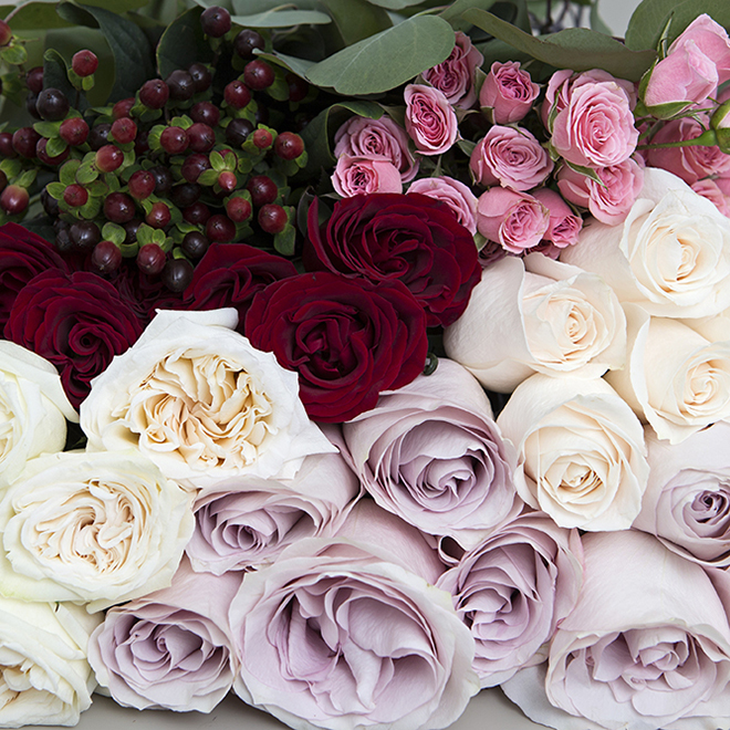 Royal Romantic Wedding Flower Pack From FiftyFlowers.com