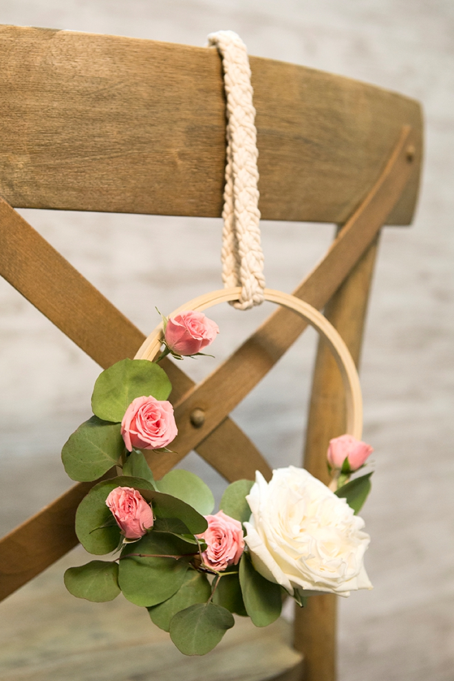 WOW, these DIY flower decor hoops are spectacular!