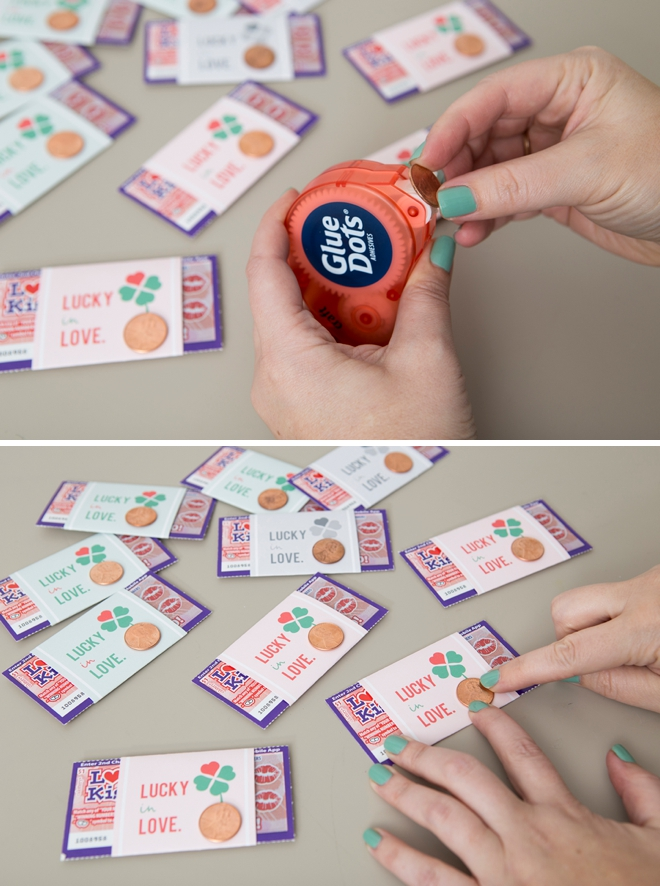 Free printable Lucky In Love labels for scratchers as wedding favors!