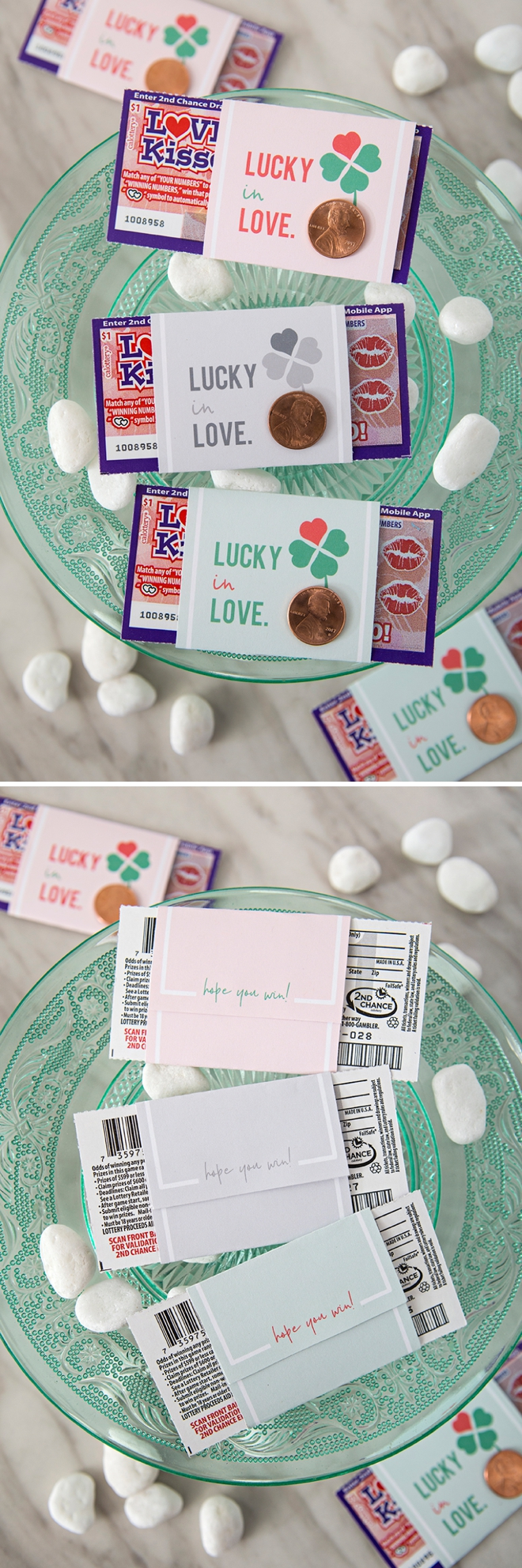 These DIY $1 scratcher wedding favors are SO cute!