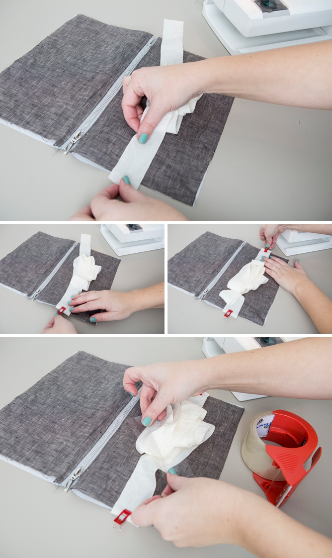Make your own photo-lined zipper pouch, super easy!