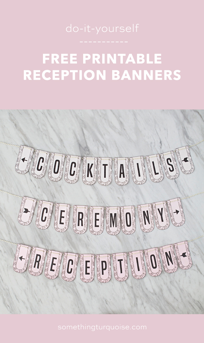 graphic regarding Free Printable Banners and Signs identify Cost-free Printable Wedding day Directional Banners, Therefore Lovely!