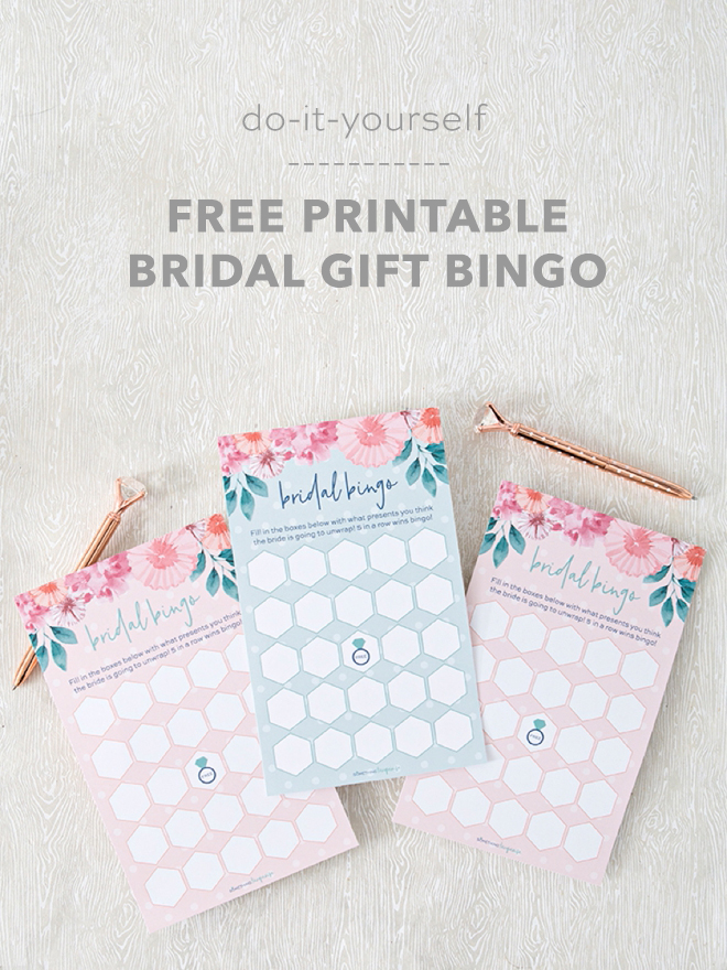 This free printable bridal shower gift bingo is so cute print these adorable bridal bingo game cards for free solutioingenieria Images