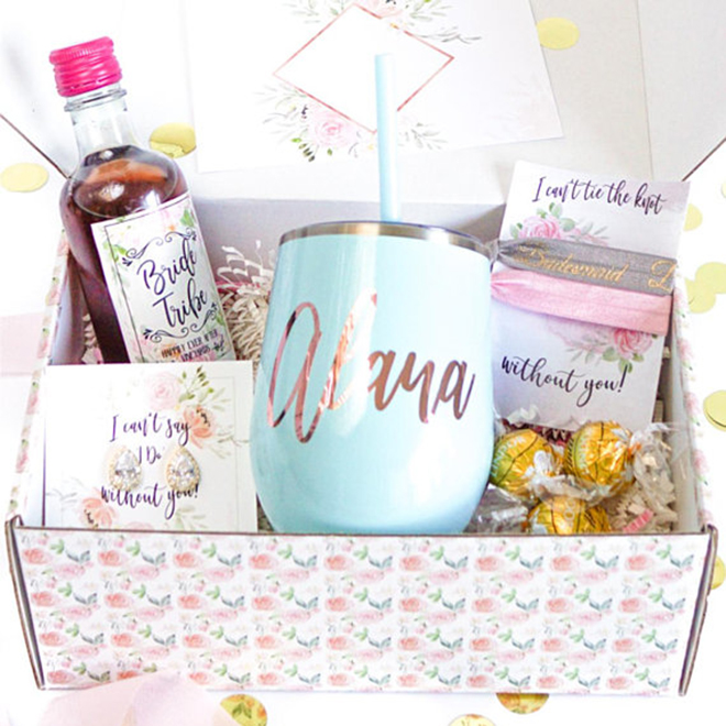 Enter to win custom bridesmaid proposal boxes from LaLa Confetti!