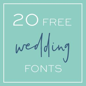20 Awesome, free wedding fonts that you need to download right now!