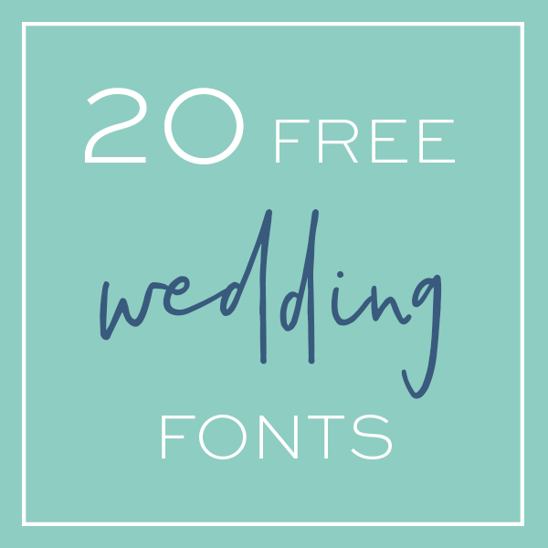 Here Are 20 Awesome, And FREE Wedding Fonts That You NEED!