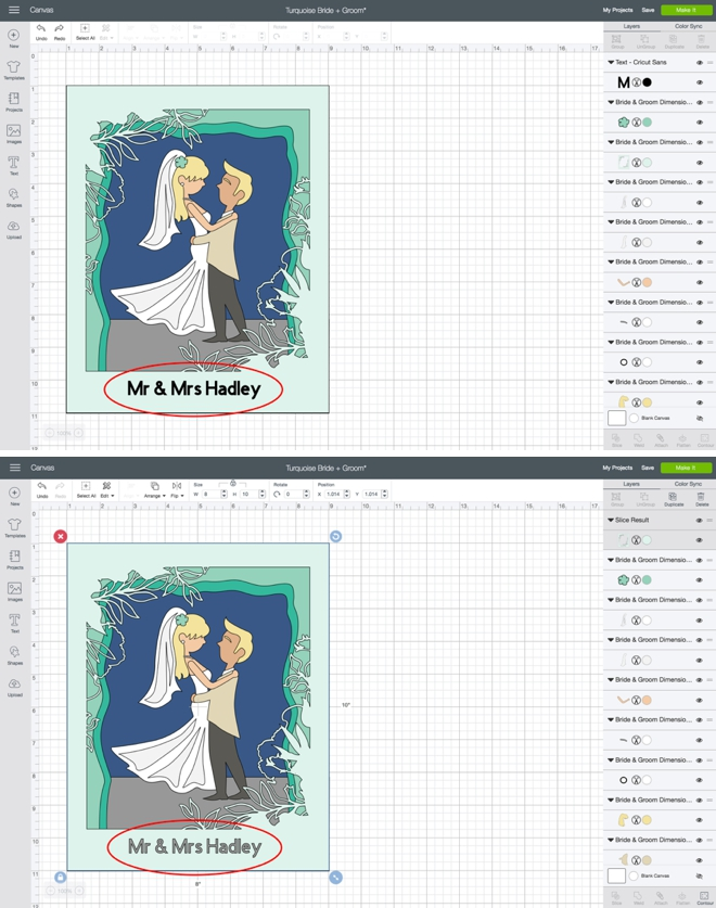 Make your own custom, 3D wedding portrait with Cricut!
