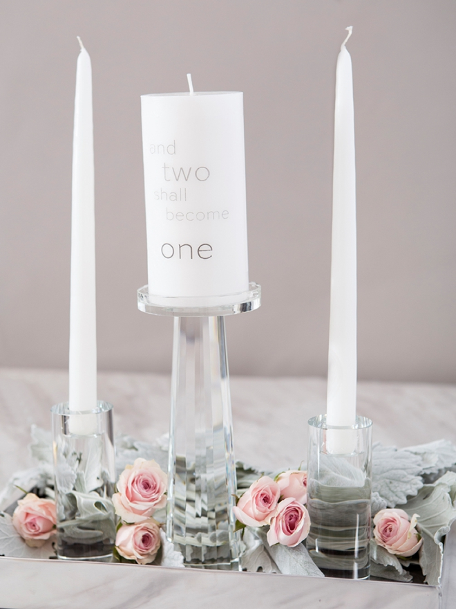 Learn how to personalize your own unity candles!