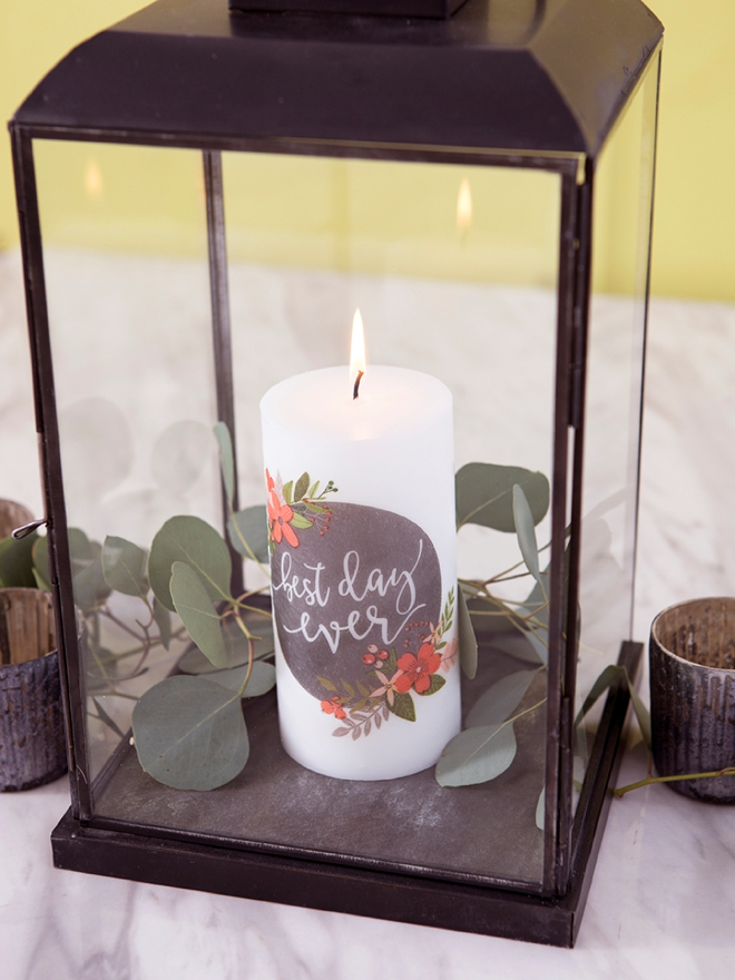 Learn how to melt napkin designs onto plain pillar candles!