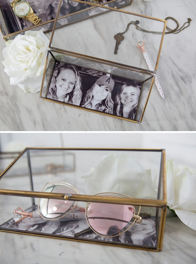 Learn how to make the cutest photo-lined jewelry boxes!