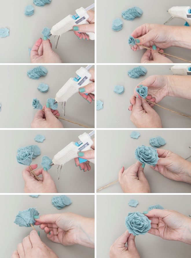 How to make your own felt succulents, so pretty!