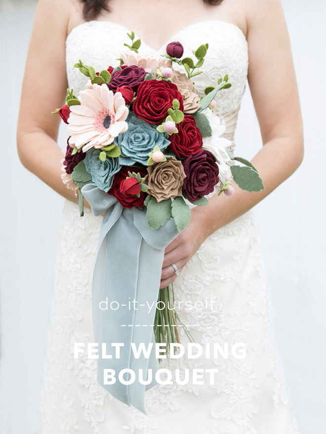 How To Make The Most Gorgeous Wedding Bouquet Entirely of Felt!