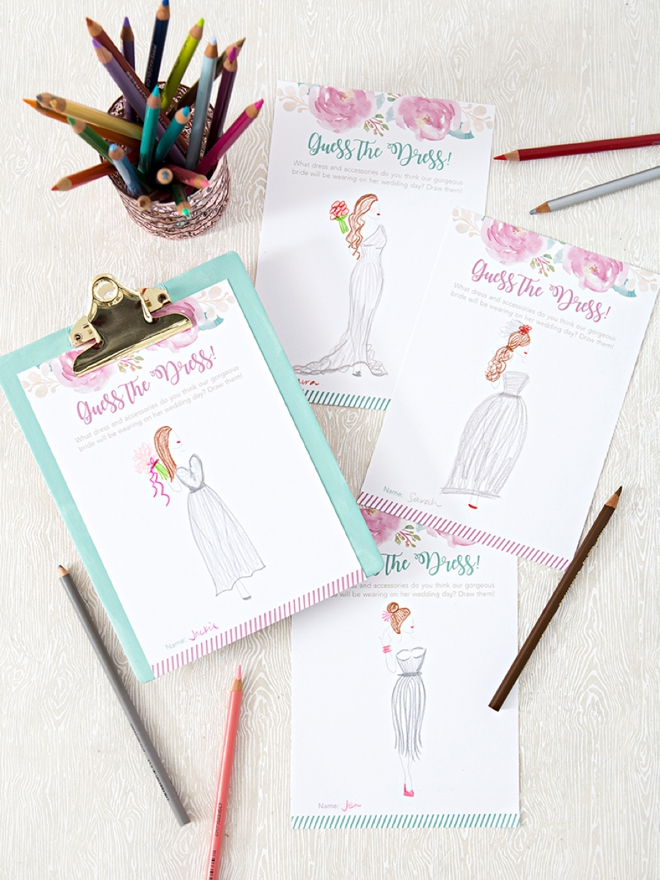 these drawn dress sheets would make darling keepsakes for the brides scrapbook especially if there is one close to her actual look