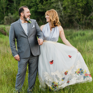 Crushing on this couple's dreamy forest wedding!