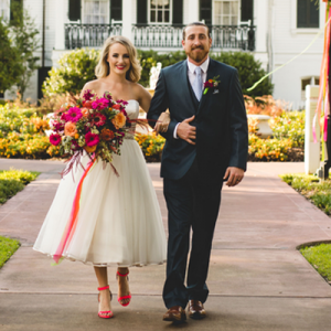 This fun styled New Orleans wedding is SO full of color and we can't get enough!