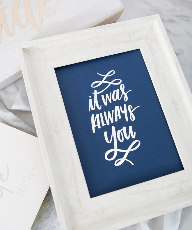 It Was Always You Print by Something Turquoise