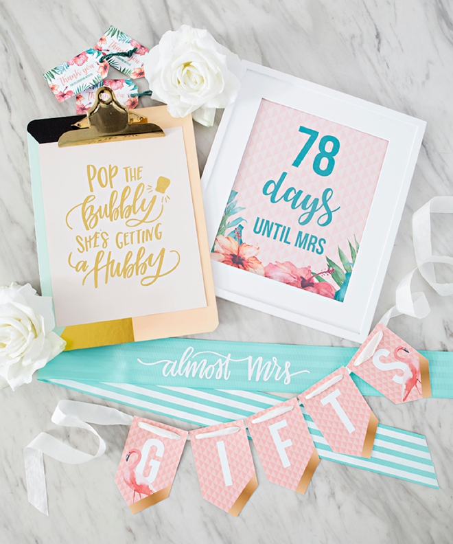Bridal Shower digital craft file collection by Something Turquoise