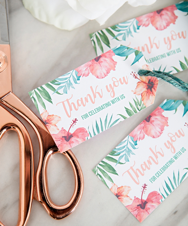 Thank You Bridal Shower Gift Tags by Something Turquoise