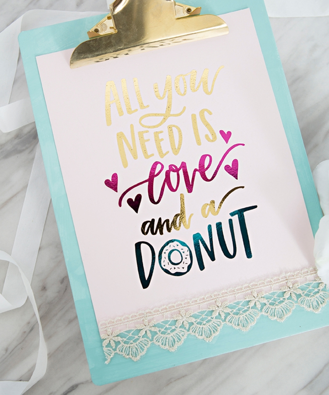 All You Need Is Love and a Donut Sign by Something Turquoise