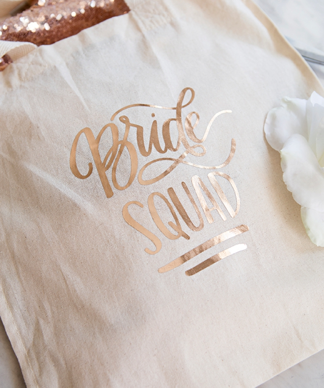 Bride Squad Tote Bag by Something Turquoise