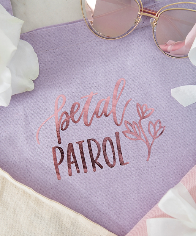 Petal Patrol Tote Bag by Something Turquoise