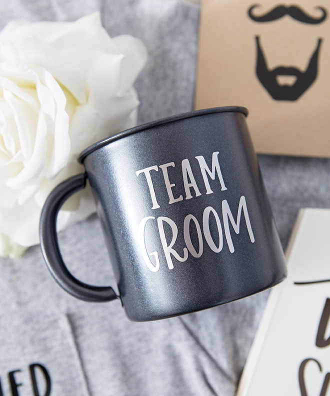 Team Groom Coffee Cup by Something Turquoise