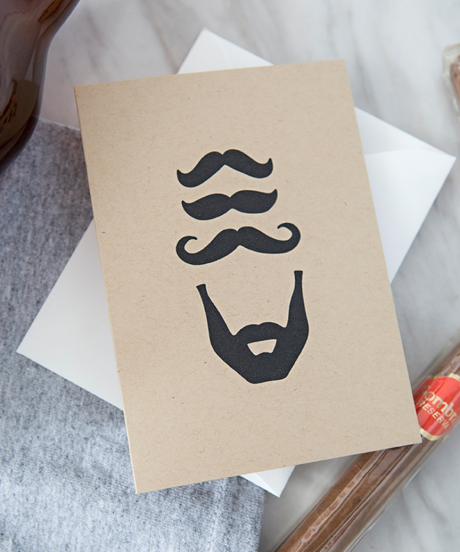 Mustache and Beard Groomsmen Card by Something Turquoise