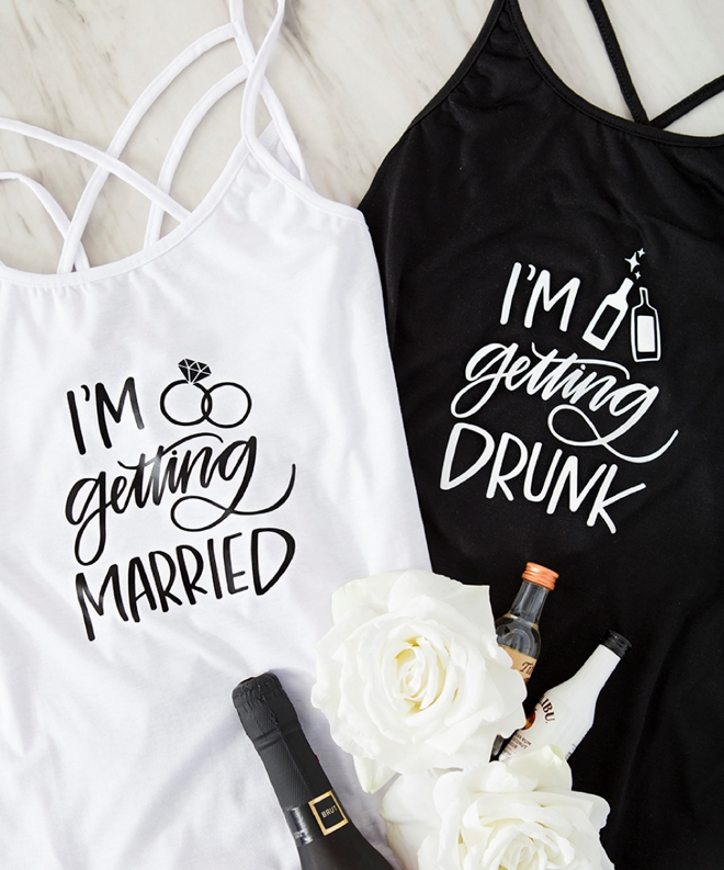 I'm Getting Married and I'm Getting Drunk tank tops by Something Turquoise