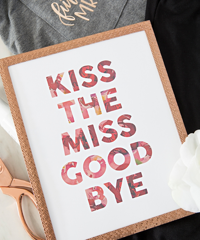 Kiss The Miss Goodbye Sign by Something Turquoise