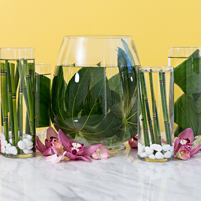 Learn our awesome trick for submerging flowers and leaves in water!